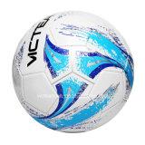 Balón de fútbol butílico herido de nylon de la vejiga del PVC de la talla 5