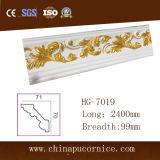Hermoso diseño 10cm PU blanco de espuma de poliuretano de molde de la luz de techo LED