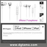 Auriculares do fone de ouvido do relâmpago da em-Orelha 8pin para o iPhone 7 5 6splus
