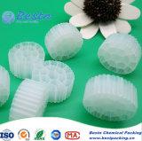 Bio- corpi filtranti dell'imballaggio per i media delle acque di rifiuto, media di Mbbr dello stagno di pesci per la base mobile di Mbbr