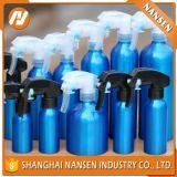 frasco cosmético de alumínio vazio da venda 150ml quente com bomba ou tampão ou pulverizador com petróleo essencial do anel da calcadeira