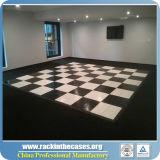 Белая и черная танцевальная площадка для пола переклейки гостиницы и Rental и рамки алюминия
