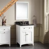 Gabinete de banheiro ereto livre do dissipador da vaidade branca moderna do banheiro único