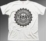 Le T-shirt blanc estampé par logo de potiron badine (A642)