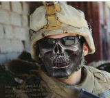 プロ戦術的な頭骨の骨組Paintballの半分の表面は調節可能なマスクを保護する