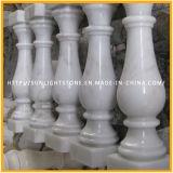 Het goedkope Natuurlijke Witte Marmeren Traliewerk/de Balustrades van de Leuning van de Travertijn voor Balkon
