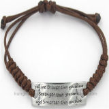 Couro curvado do bracelete do Zircon da chegada da forma jóia nova