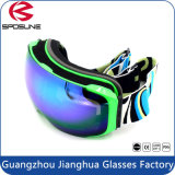 Customized Strap Winter Anti Fog Neve Sports Goggles Esférico Dual Lens Unisex