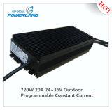 gestionnaire imperméable à l'eau actuel continuel programmable extérieur de 720W 20A 24~36V DEL