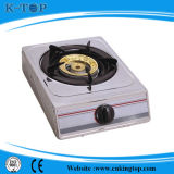 Estufa de gas simple del panel revestido negro