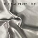 tessuto tinto solido del raso 100%Silk, tessuto di seta del raso, tessuto di seta