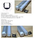 Bereiftes dünnes flaches dünnes LED Aluminium des /Clear/Opal-Diffuser- (Zerstäuber)objektiv-erstellt /Extrusion für LED-Streifen ein Profil