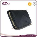 Размер доллара бумажника PU черных женщин типа застежки -молнии цвета кожаный