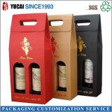 Bolso de papel del vino de la alta calidad con el sellado caliente de la hoja