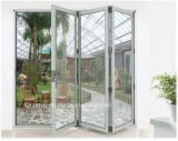 portello di piegatura di vetro di alluminio di ultimo disegno 2017 singolo