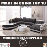 Sofá de cuero casero gigante de los diseños modernos de los muebles