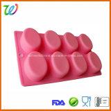 8 прессформ выпечки силикона пирожня булочки полости овальных