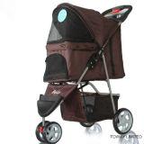 Personnalisé 3 poussettes extérieures de chariot de crabot de chariots à animal familier de roues