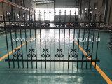 2017の新製品は黒い電流を通された鋼鉄庭の塀をカスタマイズした