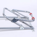 Carrinho de compras flexível portátil com moldura de metal