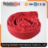 Тканья полиэфира 5 тонн слинг красного бесконечного круглый