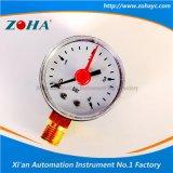 Radialmanometer mit Einstellungs-Rot-Zeiger