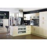 最近白い無光沢のラッカーMDFの木製の食器棚