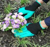 Linke u. rechte Plastikgreifer-im Garten arbeitenhandschuh-Garten-grabender Handschuh