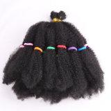 оплетки волос Kinki Kanekalon Afro Ombre вязания крючком волос оплеток 18inch синтетические Marley синтетические