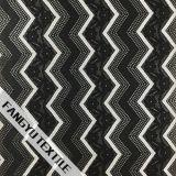 Tela de nylon do laço do estiramento do projeto da listra do ziguezague