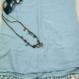 Hellblauer Voile-Schal, Schal 100%Polyester für Frauen, Form-Zusatzgeräten-Schale