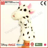 Marioneta de mano suave de la vaca del animal relleno del juguete para los cabritos/los niños