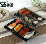 Recipiente plástico descartável impresso floral do sushi da classe superior (S01)