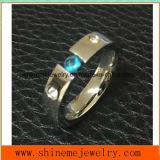 Anello tagliato a filo dell'acciaio inossidabile dei monili all'ingrosso del corpo (CZR2591)