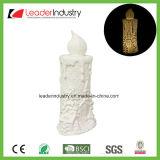 Supporto di candela di ceramica bianco di nuovo disegno con colore del LED che cambia per l'ornamento di natale