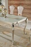 新しい到着現代様式のステンレス鋼のダイニングテーブル