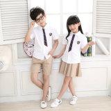 Disegni primari 100% dell'uniforme scolastico fissati vestiti dei capretti del cotone