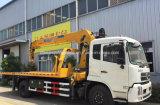 판매를 위한 Dongfeng 4X2 6 바퀴 구조차 트럭 거치된 기중기