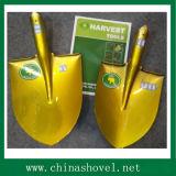 Shovel Golden Color Round Point Steel Shovel and Spade