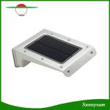 20PCS SMD 2835 LED ABS+ 알루미늄 태양 전지판 힘 벽 빛 옥외 정원 램프 움직임 + 건강한 센서 통제 태양 램프