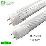 El tubo de T8 LED enciende el blanco puro blanco Aluminum+PC de la naturaleza blanca caliente de las iluminaciones de las lámparas de los 60cm los 2FT 9W 165-245V LED