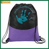 Sac non-tissé de sport de sac à provisions de cadeau de cordon (TP-dB089)