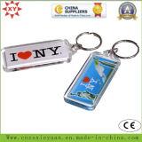 주문 로고 투명한 플라스틱 열쇠 고리