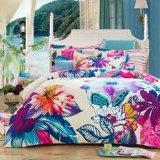 ブラシをかけられた綿の方法寝具のベッドの一定の花シート