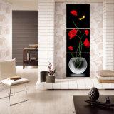 Der 3 Stück-heiße Verkaufs-blüht moderner Wand-Farbanstrich die Farbanstrich-Raum-Dekor-Wand-Kunst-Abbildung, die auf Segeltuch-Ausgangsdekoration Mc-215 angestrichen wird
