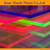 Los colores fluorescentes echaron las hojas de acrílico de PMMA