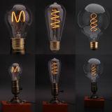 蝋燭LEDの球根3W LEDの球根は白いE27 220Vの省エネの球根のホーム装飾の照明のためのレトロのガラスエジソンの電球のフィラメントランプを暖める