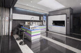 Module de cuisine à haute brillance de forces de défense principale de laque blanche/modèle moderne de cuisine