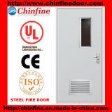 Porte coupe-feu en acier avec le verre ignifuge (CF-F004)