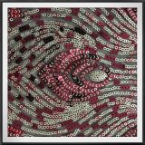 Шнурок Sequins Tulle шнурка Sequins сетки шнурка вышивки Sequins сетки земной
